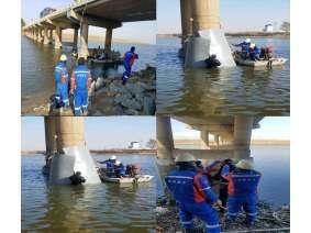 辽阳唐马大桥桥梁桩水下加固项目2018-11-06