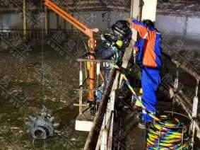 齐齐哈尔普邦明胶污水池爆气头切割拆除